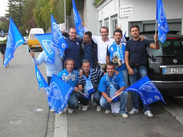 Enrico Boldrini con gli amici a Zurigo